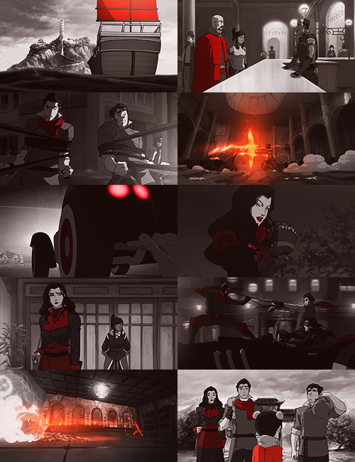 "avatarjuice:  the legend of korra episodes [8/12]  ""when extremes meet"" → in red"