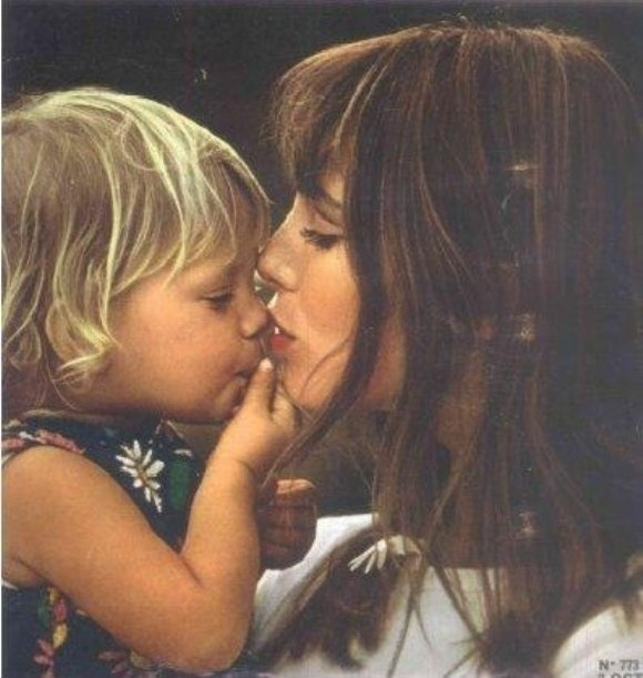 Jane Birkin and baby.