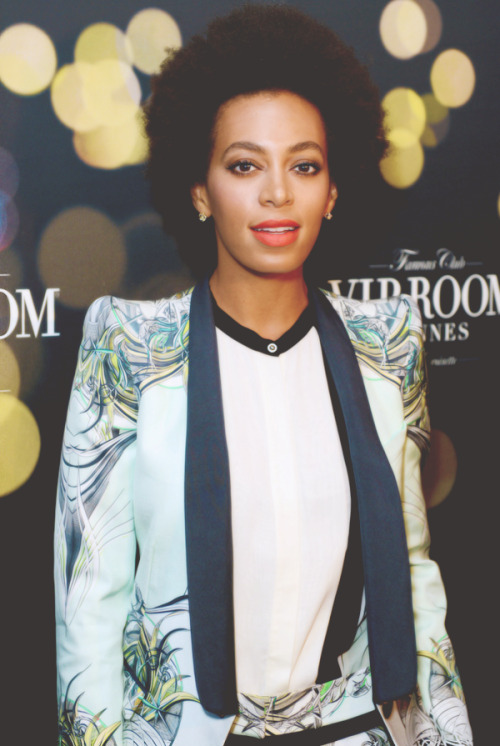 solangesolo:  Solange at The Belvedere Party in Cannes. (5-16-13) (2)