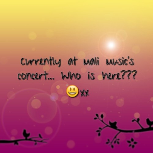 Holla!! 😁 #MaliMusicAndFriends #gospel #Concert #WhoIsInTheQue LOL. Xx