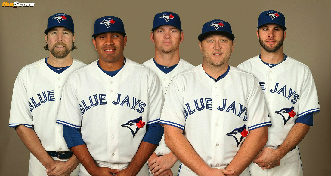 LEAKED: The Toronto @BlueJays Starting Rotation In Uniform.