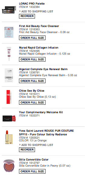 VIB SEPHORA SALE. I HAVE A PROBLEM  edit: FOR THE RECORD I AM ONLY PAYING FOR TWO OF THESE THINGS AND I GET A DISCOUNT BUT UGH IT'S GROSS THAT I CAN STILL GET THIS MUCH FREE SHIT.