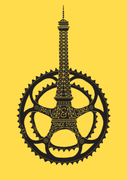 bicyclestore:  Le Tour de France 100th Anniversary Poster by Dave Foster