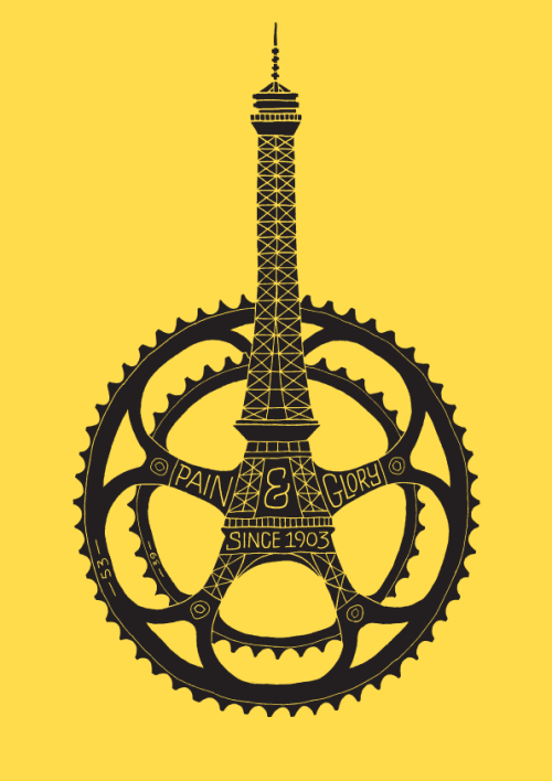 fixieporn:  Le Tour de France 100th Anniversary Poster by Dave Foster