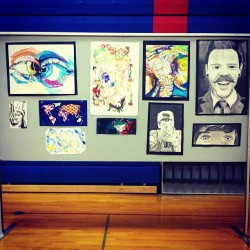 Some of my favorite pieces in the art show. ☺ #artshow #art #happy