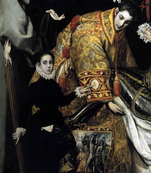 artdetails:  El Greco, Burial of the Count of Orgaz (detail), 1588