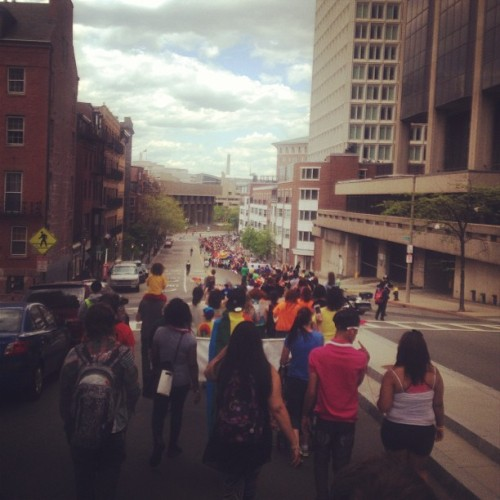 Pride Parade heading toward government center :) #pride #boston