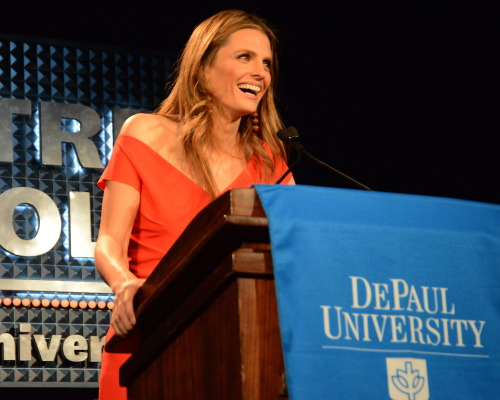 Stana Katic accepts the 2013 Award for Excellence in the Arts.