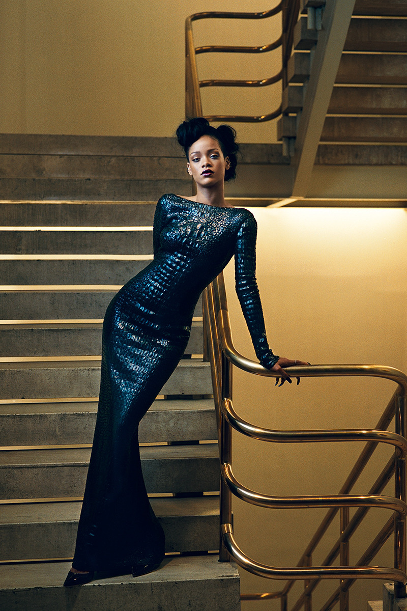 mattymatte:   Riri for Vogue  Her best outfit thus far in my eyes.. just my taste I guess. She looks like she will eat a man