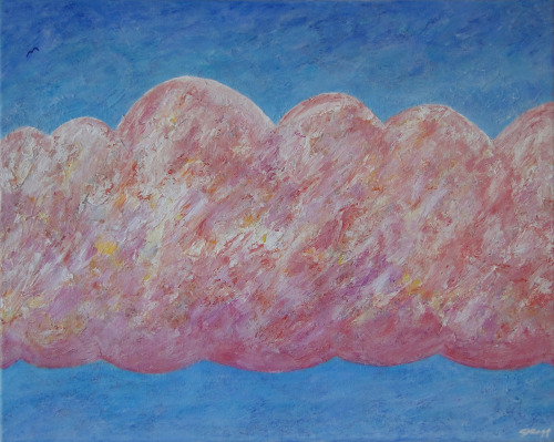 "Evening Clouds at Miami Beach Acrylic on Canvas, 16""x20""The Drexel Collection, Miami"