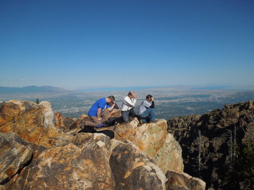 Tebowing on top of Mt. Olympus