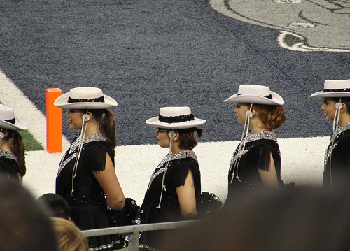 in drill team the directors told us to put our hair in a ponytail for our game and as you can see I tried