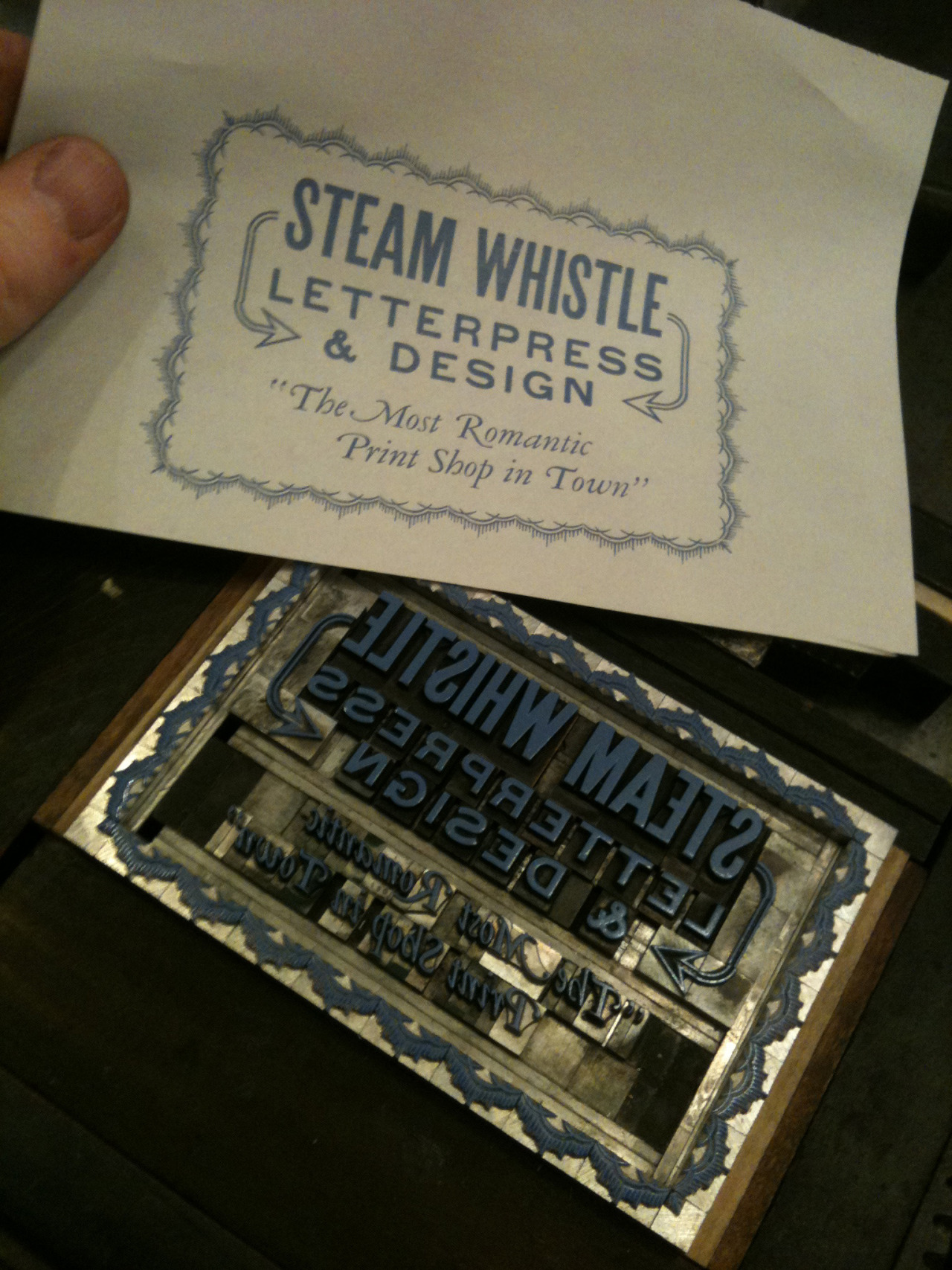 steamwhistlepress:   Here's a clearer shot of this morning's forme and proof. I actually really like setting type, it always looks so sharp.   If you like typography, you'll fall in love with Steam Whistle Letterpress and Design.