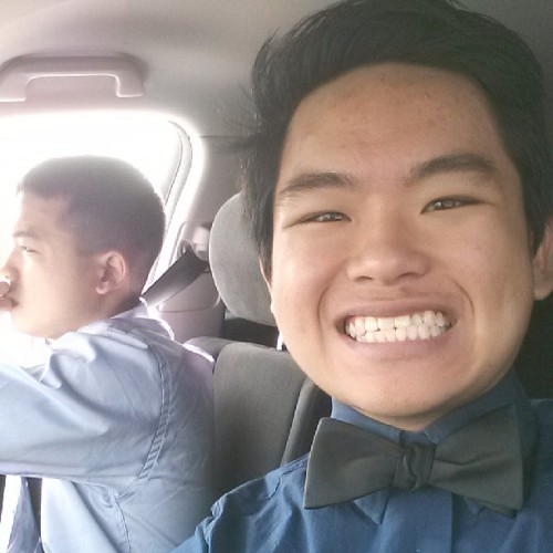 Brother's graduation!!!! Tied my own bowtie! #ohhappydays #graduation #ust #bowtie #brothers #family #classy #snazzy #awesome #spiffy
