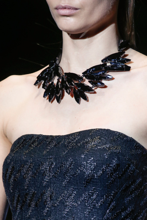 noorsdaily:  love the necklace Gucci F/W 2013