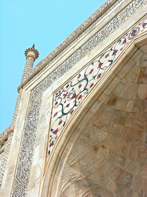 islamic-art-and-quotes:  Main Entrance Arch Arabesque and Calligraphy, Taj Mahal, Agra, India From the Collection: Zakhrafah/Arabesque (Islamic Artistic Decoration)