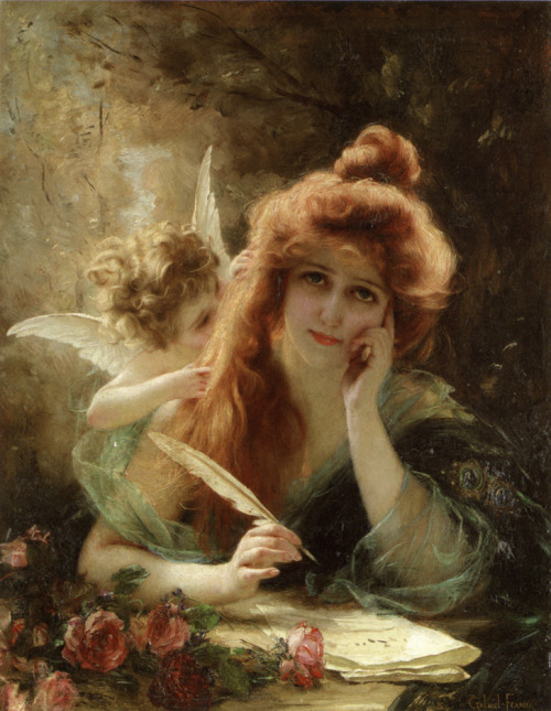 "the-garden-of-delights:  ""The Love Letter"" by Gabriel Joseph Marie Augustin Ferrier (1847-1914)."