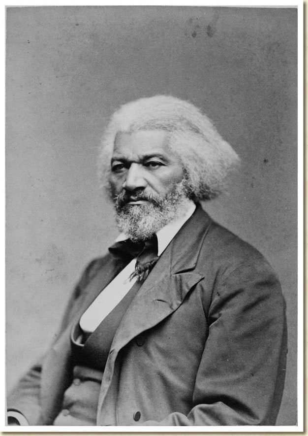 "Frederick Douglass, February 1818 - February 20, 1895 ""If there is no struggle, there is no progress."" Born into slavery in Maryland in 1818, Frederick Douglass went on to become a prominent abolitionist, author, orator and statesman.  Frederick Douglass, ca. 1879 From the Frank W. Legg Photographic Collection of Portraits of Nineteenth-Century Notables:"