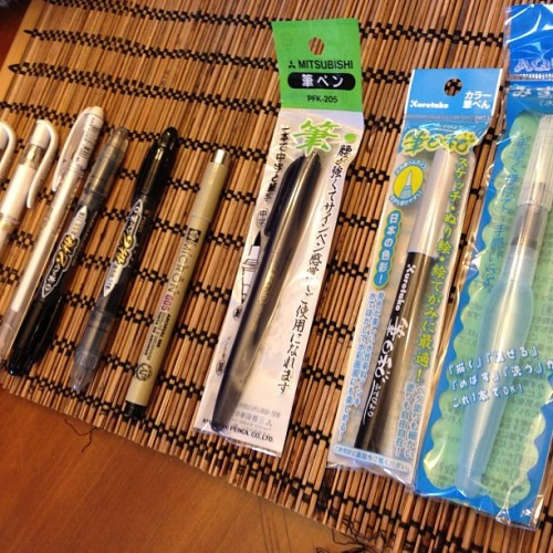 Ah, a new assortment of Japanese art pens to create with. A most joyous occasion.