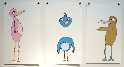 "Will Hays(L-R) Awkward, Light Headed, and Cold Feet (all 2006)Screen print19.75"" x 12"" each BUY IT NOW: $135 SOLD INQUIRE"