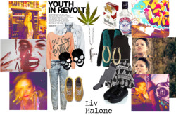 inspiration Liv Malone par cecha utilisant hauts à manches longuesHauts à manches longue / Bardot brassière, $32 / Full Tilt hauts à manches longue / Veste en denim, $32 / Marni nylon stocking / Don't Ask Amanda high waisted skirt, $74 / Ripped boyfriend jeans / Bright yellow shoes, $145 / Baskets noire / Ileana Makri white gold jewelry, $3,975 / Lauren Ralph Lauren boucles d oreilles hoop / Blue earrings, $4.83