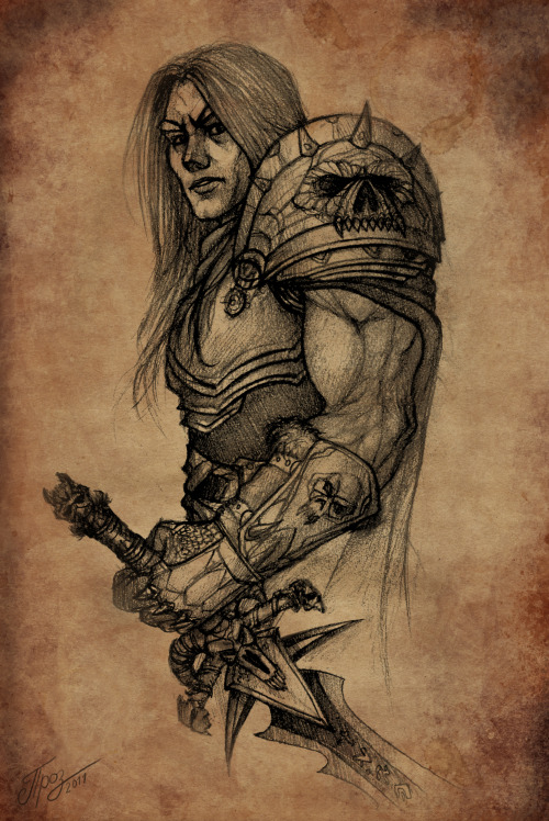 Arthas - Death Knight by *TamplierPainter  I need more DK!Arthas on my dash.