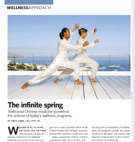 In this month's issue: The Infinite Spring - an article on...