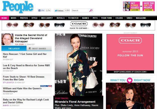 Lea & Cory are on first name basis with the frontpage of people.com again. ;)  Link to the article HERE.