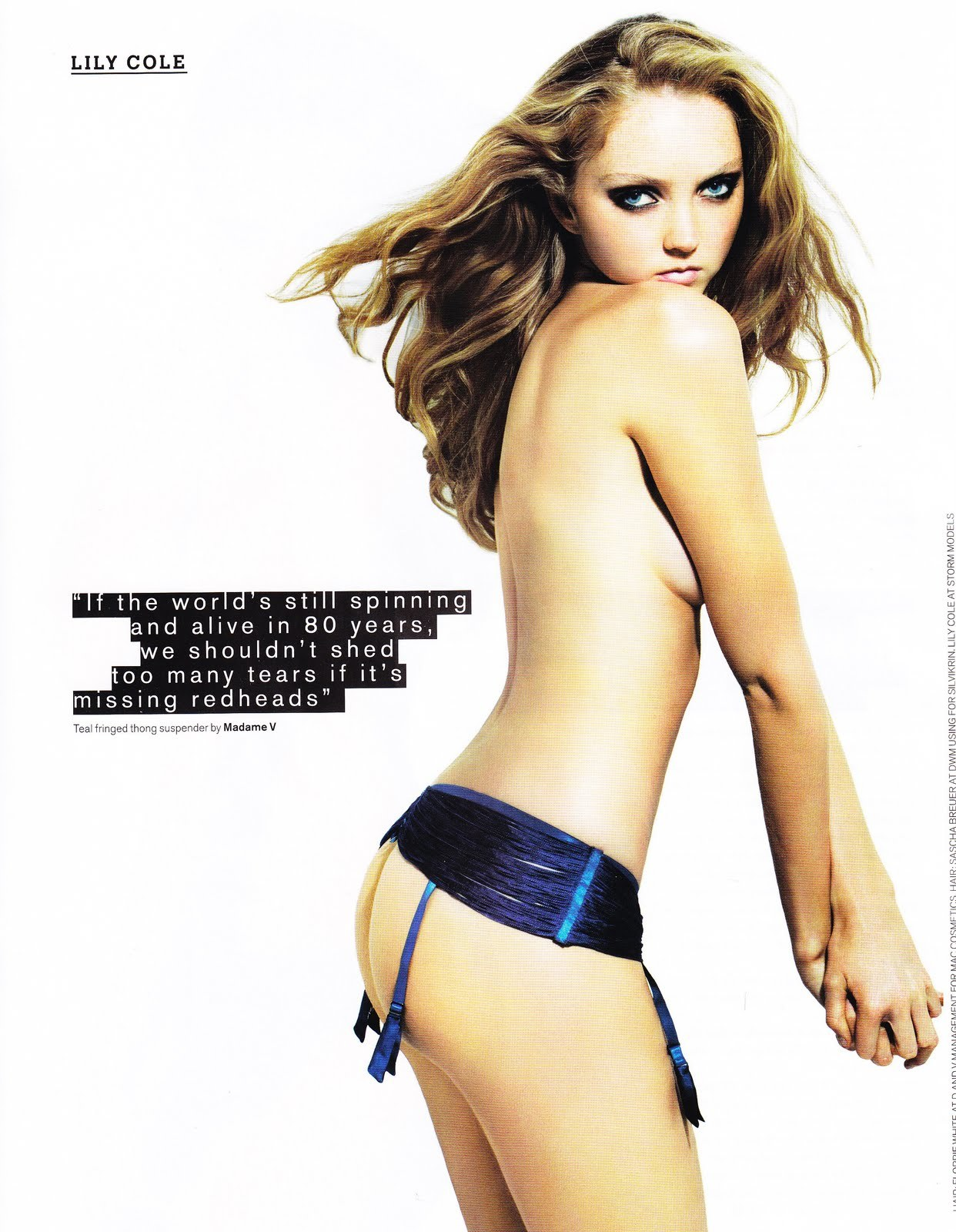 Lily Cole Photographed by Rankin for Arena May 2007