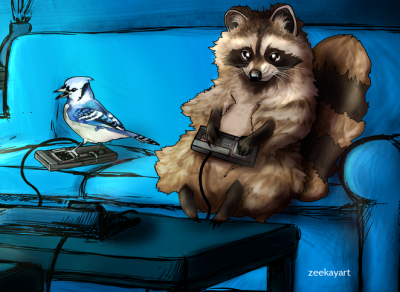 zeekayart:  regular show