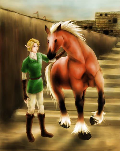 Link and Epona by ~missjalea