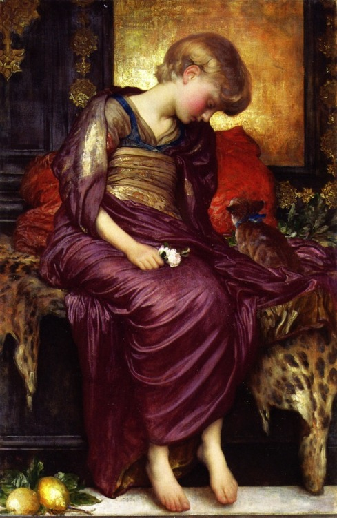 "artsandcrafts28:  ""Kittens"" Frederick Leighton unknown"