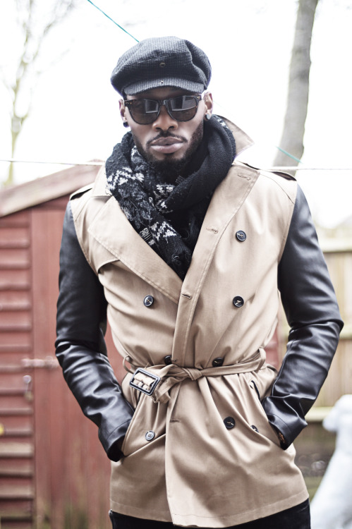 blackfashion:  River Island JacketPhotographed by Jeffersonevery-man-loves-cats.tumblr.com