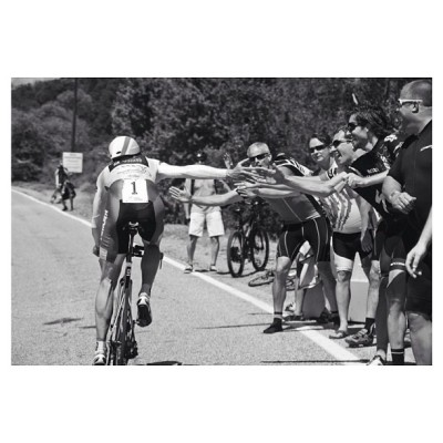 drunkcyclist:  fabbricadellabici:  Jens Voigt doing hi fives up the TT climb yesterday at @amgentourofcali emily_maye, instagram.com  I can't give dude anything but respect for this. He's all class. You want to endear yourself to the cycling public? Act like Mother Fucking Jens Voigt.  We love Jens Voigt and we LUV Emily Maye!