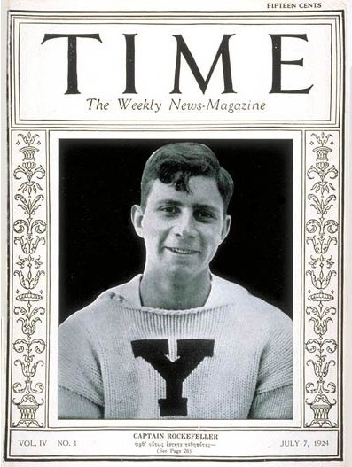 James Stillman Rockefeller - captain of Yale University's eight-man Gold medal rowing team at The 1924 Paris Summer Olympics & later, president of Citigroup