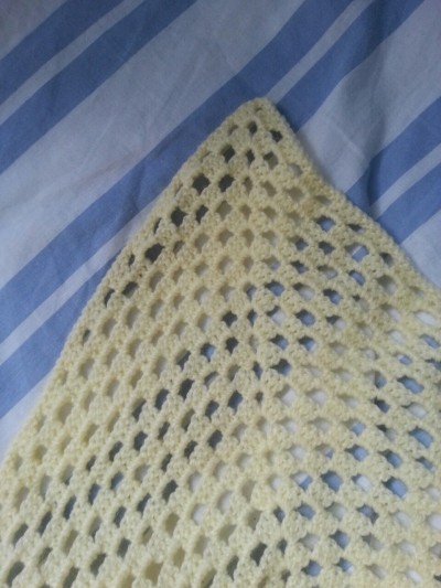 Finally finished Emmas baby blanket, it has took weeks!