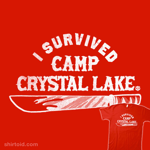 shirtoid:  Camp Crystal Lake by Gimetzco! is $11 for a limited time at Another Fine Tee