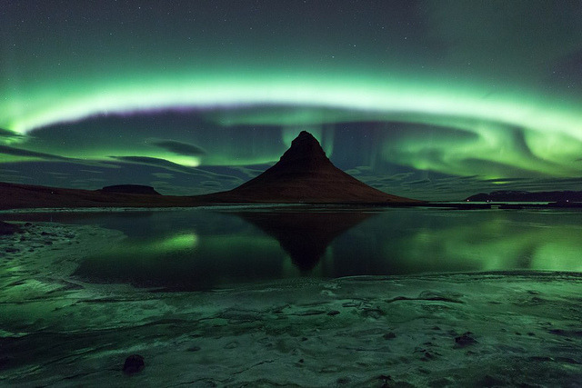 beyond-the-chorus:  Kirkjufell Aurora by Eggles on Flickr.Iceland is agnificent!!
