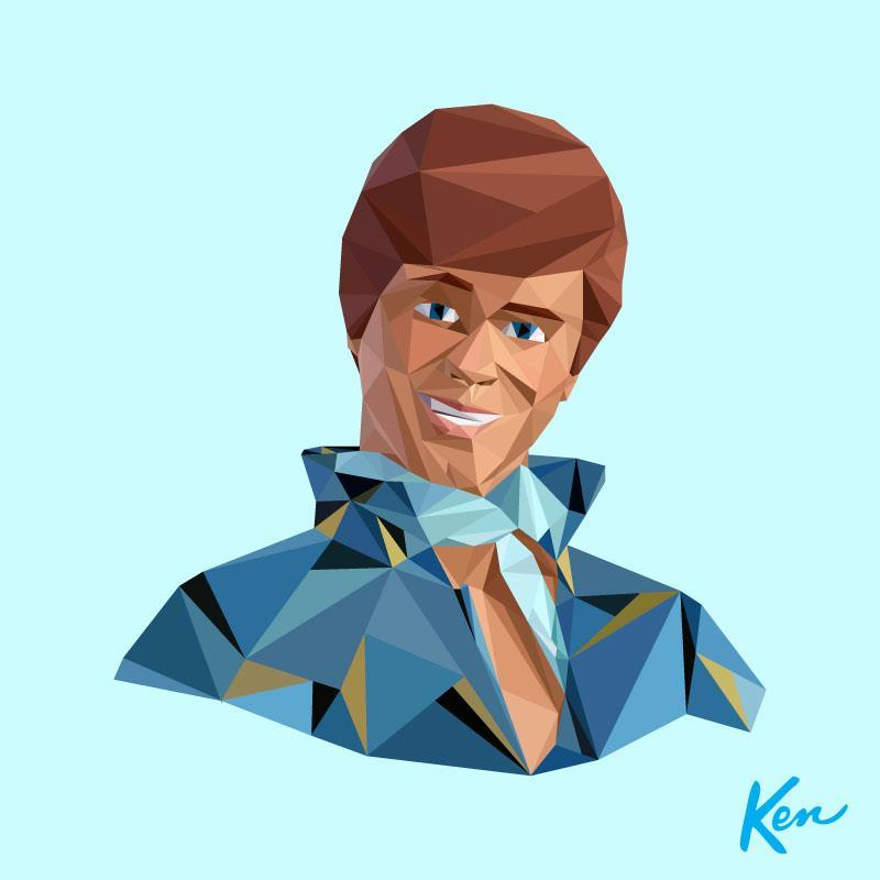 Geometric Ken | I was asked to photograph a 'Ken-vention' a while back and created this limited edition print as a giveaway.