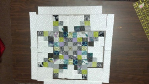 Quilting, day five…the snow storms are passed… And this block took me forever! ;-)
