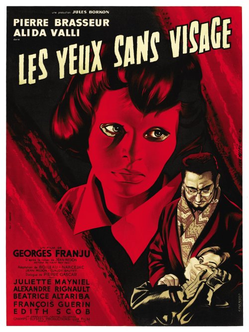 """Eyes Without a Face"" A great French horror film from 1962. One of my favorties. Not vampire-related, but a beautiful poster."