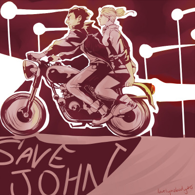 lovelynobody00:  greasers sherlock and mary on their way to save their man  Note to self: Re-reblog this after the episode airs, when i don't have to hide it behind all the *DANGER KEEP OUT* spoiler tags because, fuck, this is fantastic.