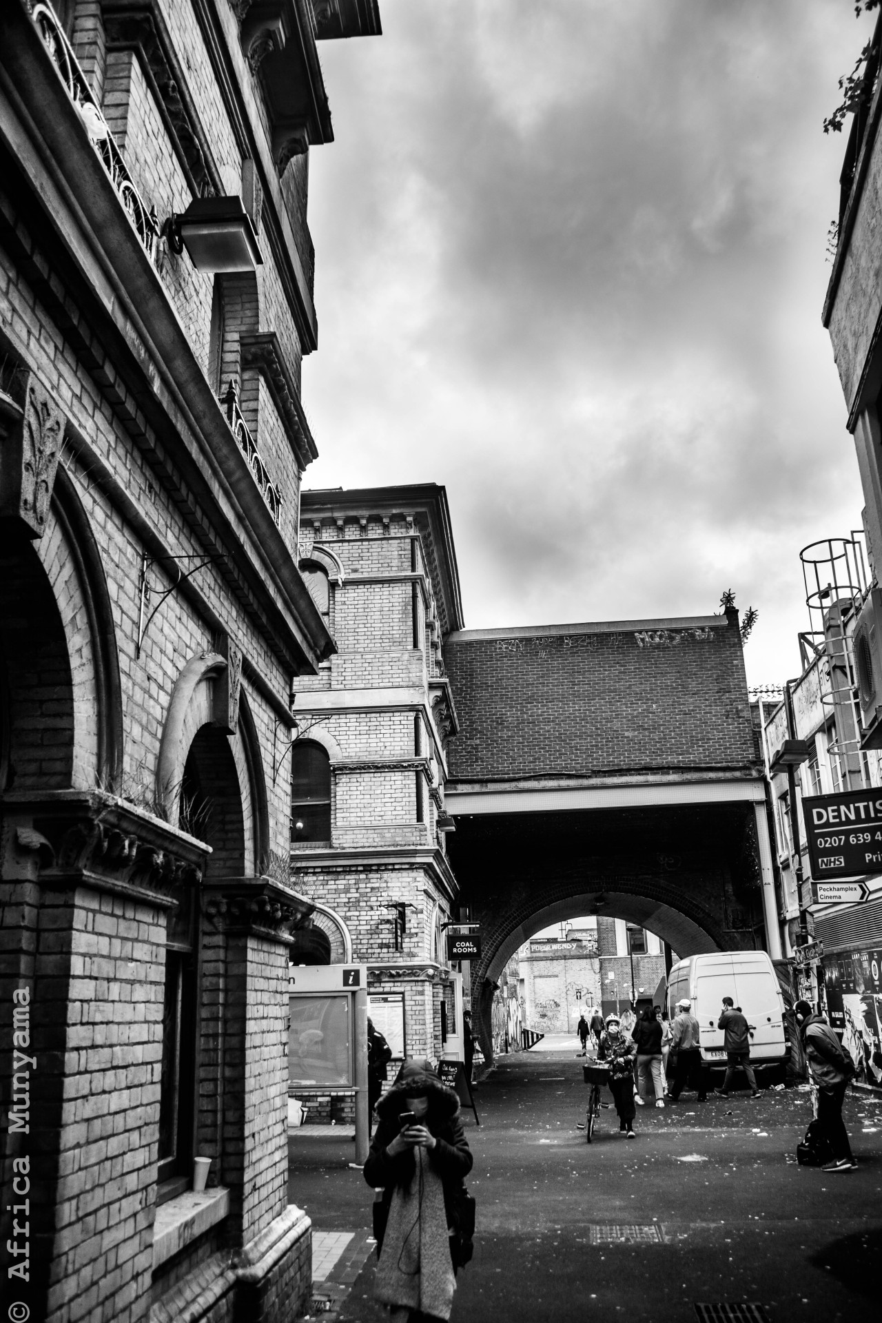 Don't look now. Approaching Peckham Rye Station #original photographers #photographers on tumblr #photography#photo#photooftheday#lensblr #photographers on lensblr #PWS #PWS - photos worth seeing #streetphotography#urban#architecture#people#city#cityscape#london#bnw#bnwphotography#bnw_society#bnwphotooftheday#bnw_photography#bnw_captures#monochrome#nikonphotography
