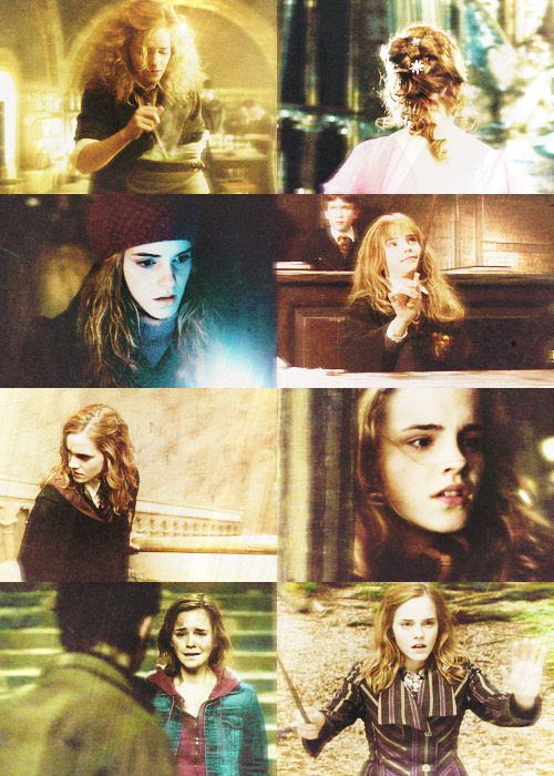 "refinebeauty:  ""Me!"" said Hermione. ""Books! And cleverness! There are more important things--friendship and bravery!"""