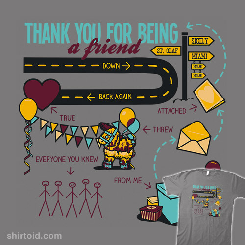 shirtoid:  Pals and Confidants by oneshoeoff is $10 today only (4/30) at Shirt Punch