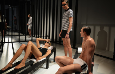 At Kevin Carrigan's S/S 2013 Calvin Klein presentation.