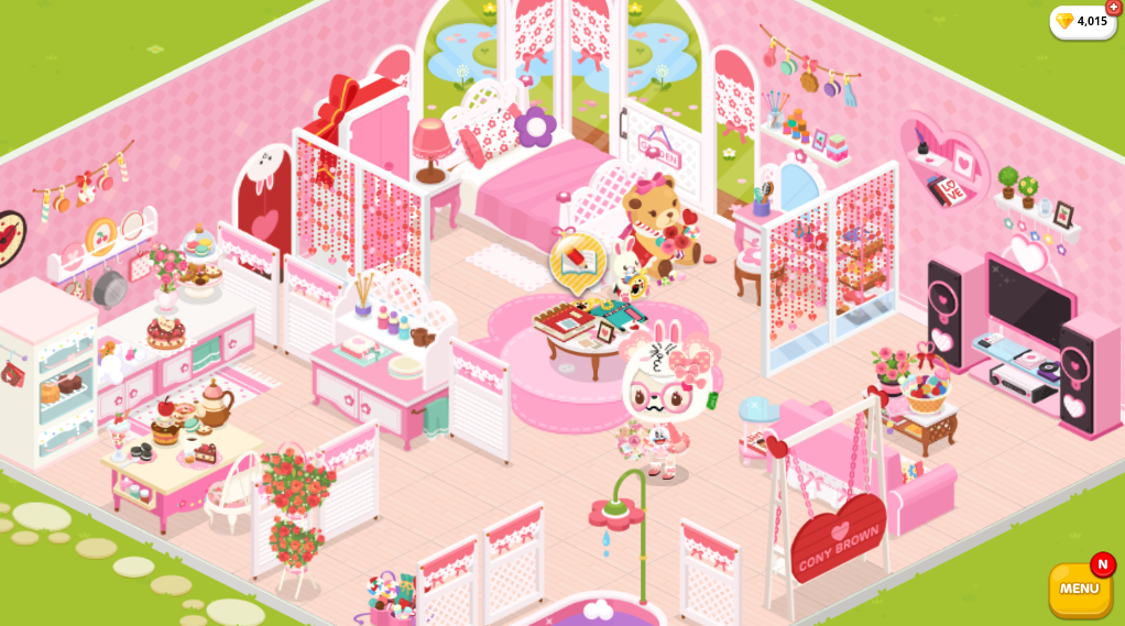 i rearranged my room on lineplay i like kawaii stuff