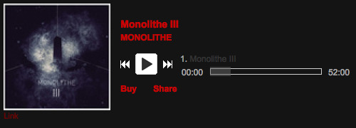 Listen and possibly buy MONOLITHE III in digital format at bandcamp: http://metalbandcamp.com/2013/01/monolithe-monolithe-iii.html