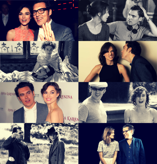 "movie meme | six collaborations/friendships/teams [1/6]  ↳ Keira Knightley & Joe Wright ""We share a kind of rebellious nature. If someone tells us to do something, we'll very often do the opposite."""