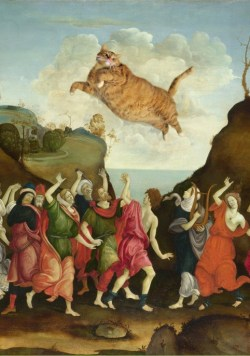 cute—animals:  Famous Paintings Improved With Fat Cats